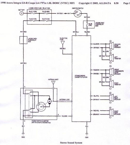 Integra Stereo Wiring Diagram