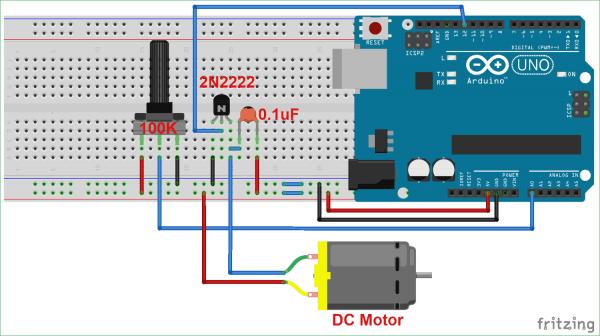 Dc Motor Potentiometer Diagram
