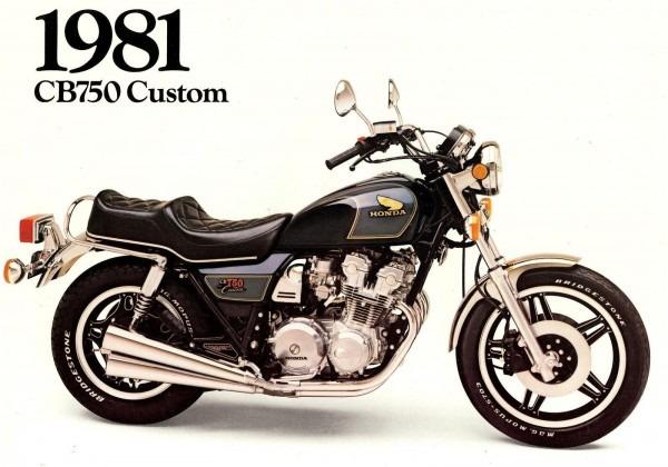 1981 Honda Cb750 Custom Motorcycle Brochure Cb 750 C Honda Cb750c