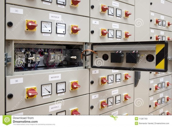 Electrical Panel Board Stock Image  Image Of Factories
