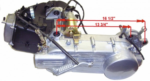 Tank Touring 150cc Scooter Gy6 Engine Long
