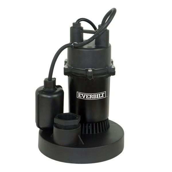 Everbilt 1 2 Hp Submersible Sump Pump With Tether