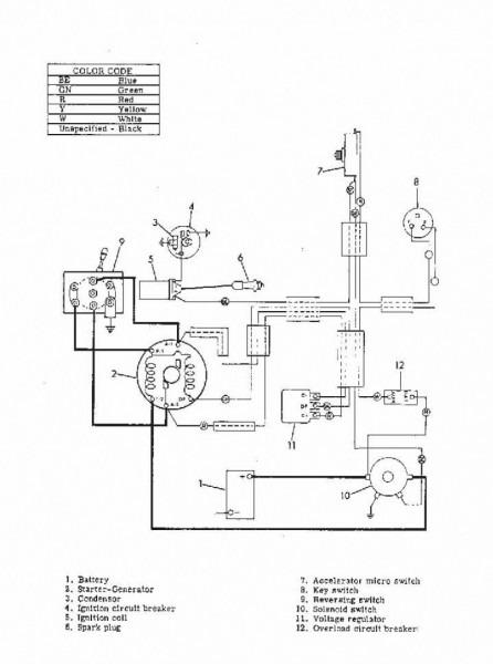 2003 Club Car Ds Wiring Diagram Schematic