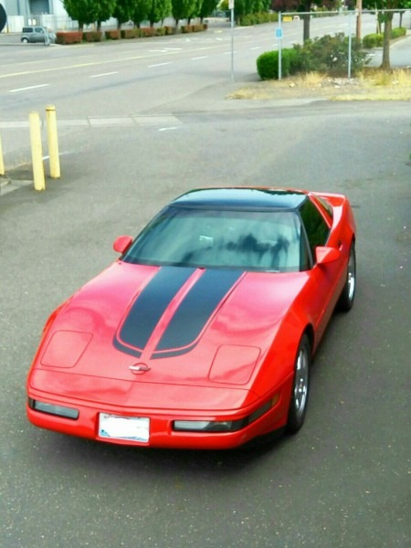 1994 C4 Corvette  300 Horse Power  Torch Red  Custom Black Leather