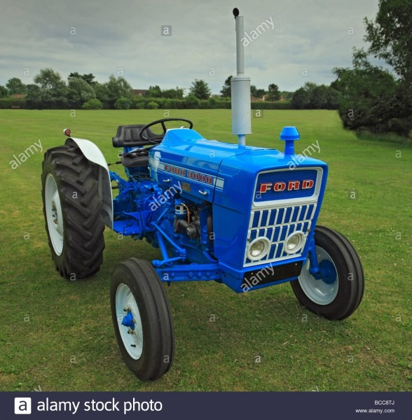 Ford 3000 Tractor Stock Photo  24856626