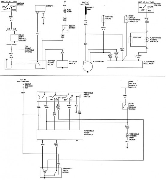 Wiper Motor Wiring Diagram Ford