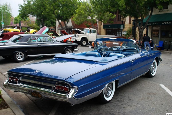 1961 Buick Electra 225 Convertible With Top Down