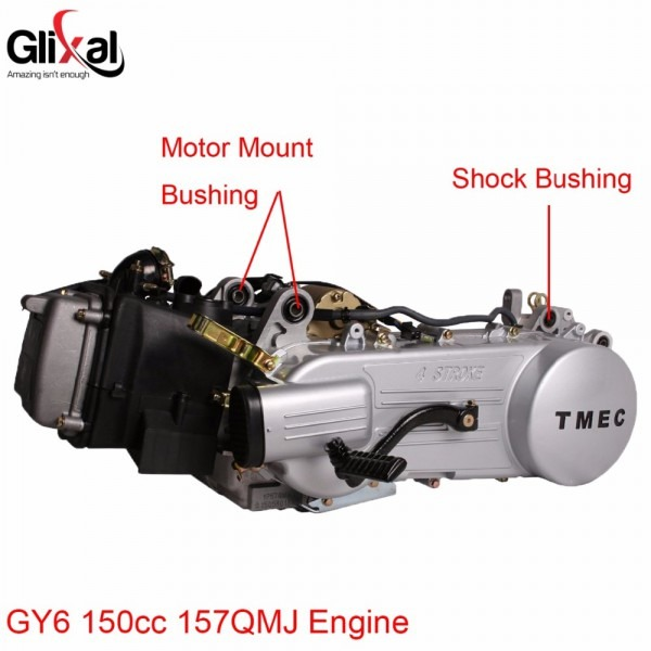 Glixal Gy6 50cc 125cc 150cc Engine Motor Mount Bushing For 139qmb