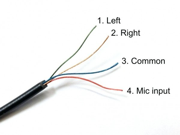 Headphone Wiring 4 Wires