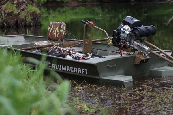 Backwater Swomp Lite Longtail Mud Motor Kit On Predator 22hp