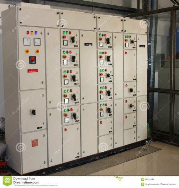 Industrial Control Panel Board Stock Image
