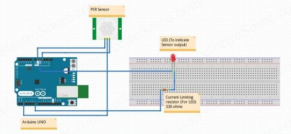 Interfacing Pir Motion Sensor With Arduino