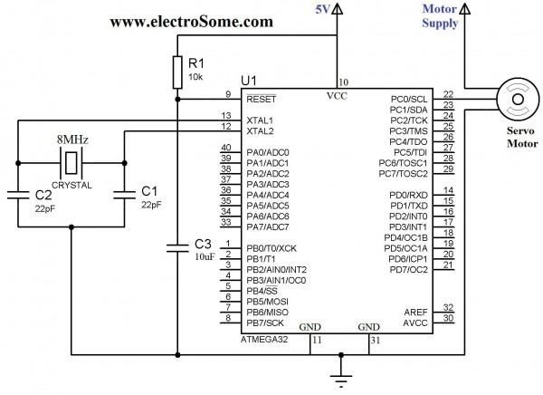 Interfacing Servo Motor With Atmega32 Atmel Avr Microcontroller