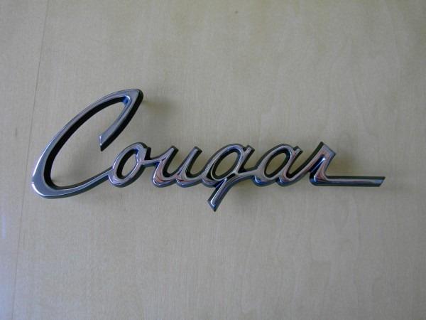 1968 Cougar Quarter Script Chrome W Studs