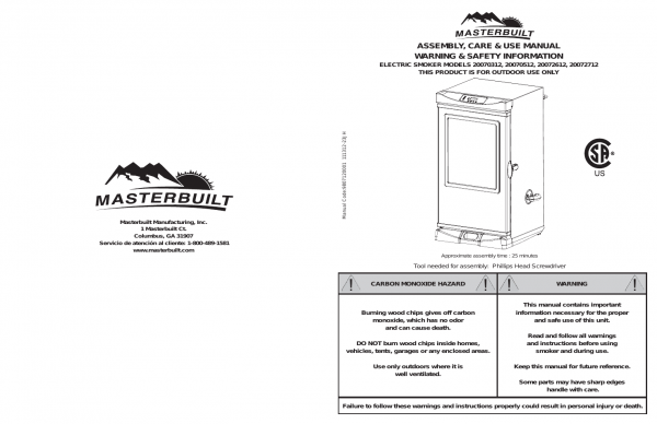 masterbuilt 40 electric smoker manual