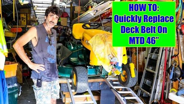 Yard Man 46  Mtd Tractor Deck Belt Replacement; Quick! Mib Version