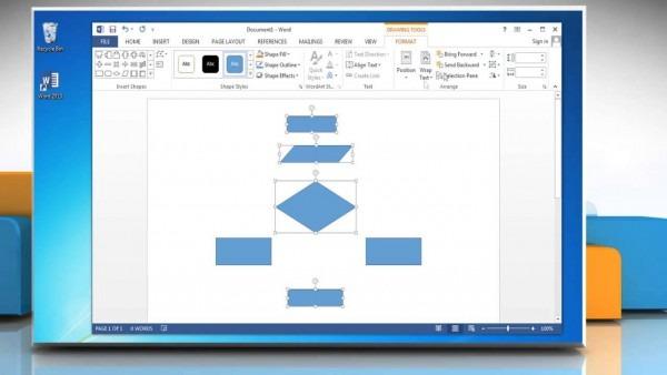 Make A Flowchart In Microsoft Word 2013