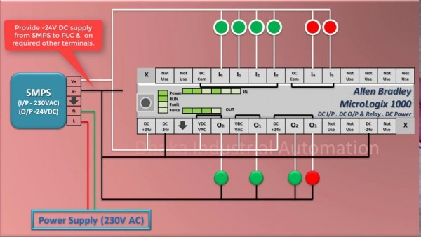 How To Do Connection Of Allen Bradley Plc (micrologix 1000) Wiring