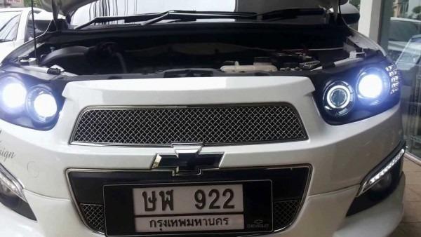 Chevrolet Aveo Sonic Dual Projector Xenon 6000k Vs Led Headlight
