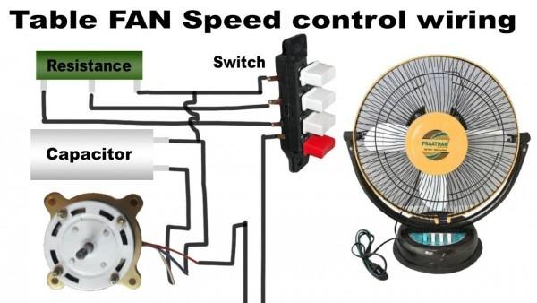 Table Fan Speed Control Wiring