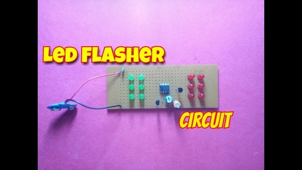 Simple Led Flasher Circuit Using 555 Timer Icdual Led