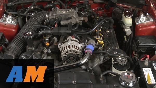 Mustang Modern Billet Chrome Underhood Dress Up Kit (96