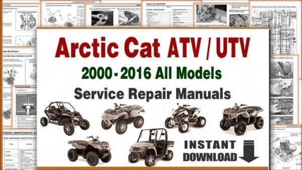 Download Arctic Cat Atv Utv All Models Service Repair Manuals Pdf