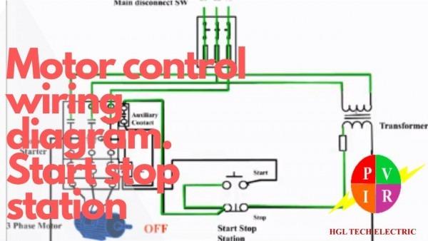Motor Control Start Stop Station  Motor Control Wiring Diagram