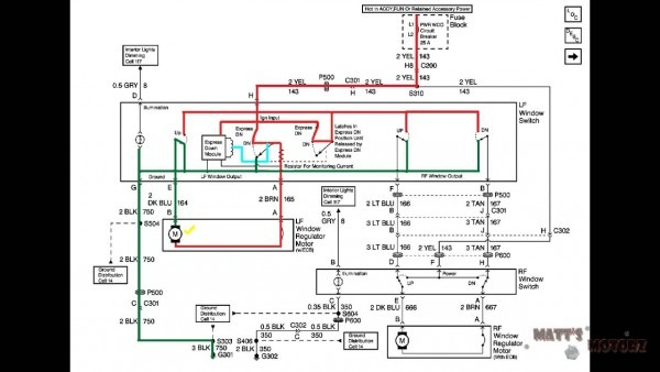 Electric Window Wiring Diagram
