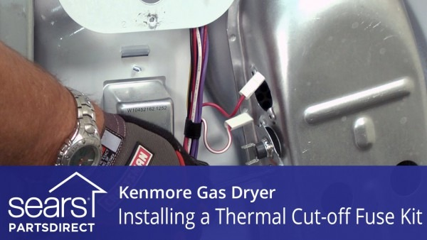 How To Replace A Kenmore Gas Dryer Thermal Cut