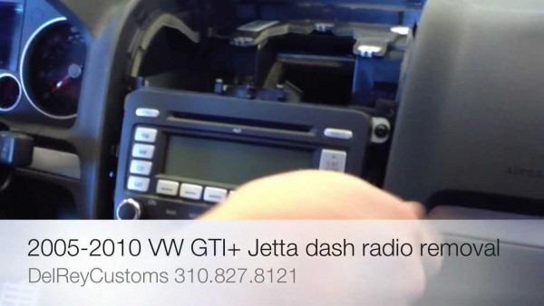 How To Remove Radio Vw Jetta Gti R32 2005