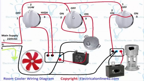 Air Room Water Cooler Wiring Diagram (urdu Hindi)