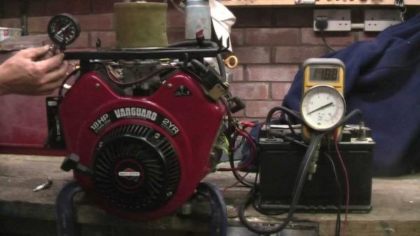 Briggs & Stratton V Twin Vanguard Engine 18hp, Oil & Cylinder