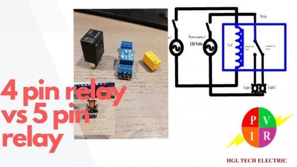4 Pin Relay Vs 5 Pin Relay  4 Pin Relay And 5 Pin Relay Wiring