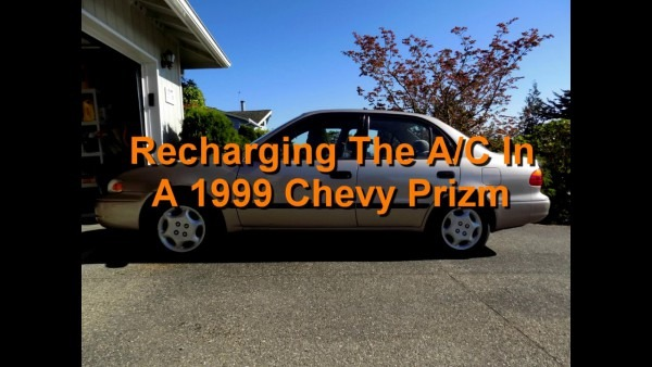 Recharging The Air Conditioning In A 1999 Chevy Prizm (toyota