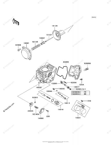 Kawasaki Atv 2002 Oem Parts Diagram For Carburetor, Parts
