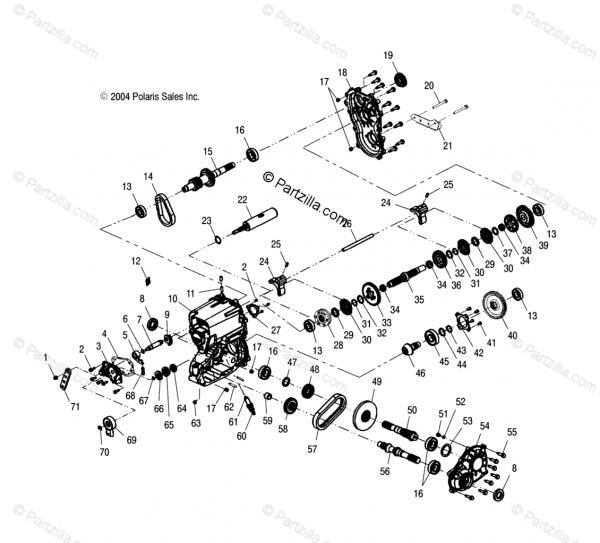 Polaris Atv 2004 Oem Parts Diagram For Gearcase