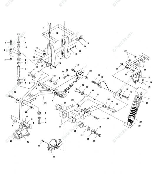 Polaris Atv 2002 Oem Parts Diagram For Rear Suspension All Options