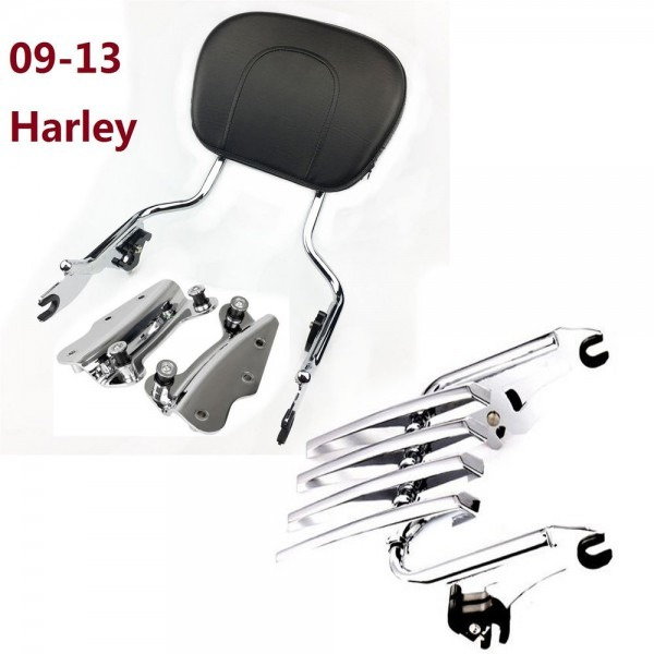 Motorcycle Accessories Sissybar Backrest   Rack Docking Hardware