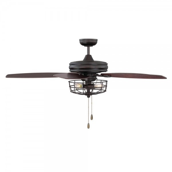 Filament Design 52 In  Oil Rubbed Bronze Ceiling Fan With Metal