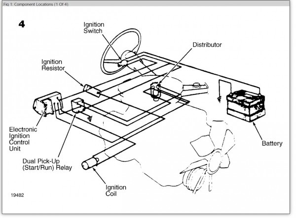 Location Of The Ignition Control Module  Location Of Ignition