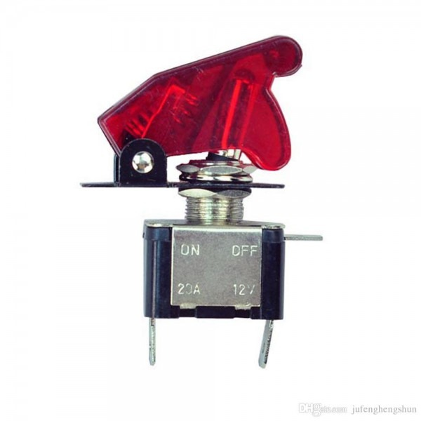 2019 Toggle Switch 12v 20a 3 Pole On Off 2 Pin Blue Red Led Light