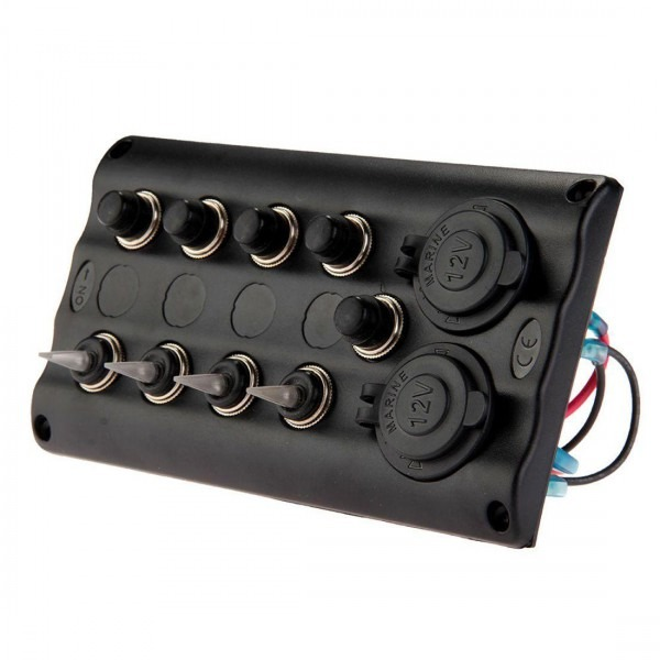 2019 Marine Boat 4 Gang Led Toggle Switch Panel Waterproof