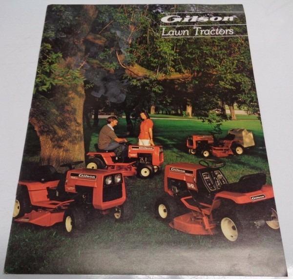 Gilson Lawn Garden Tractor & Equipment Sales Brochure 52062 52051