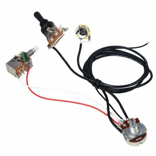 Ascendas Guitar Wiring Harness 3 Way Toggle Switch 500k With Coil