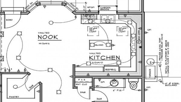 Electrical Plan For Kitchen