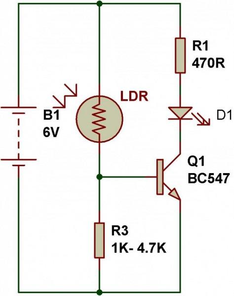 Ldr Circuit Diagram 9v