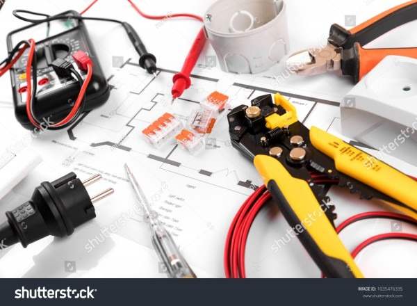 Electrical Tools Equipment On House Wiring Stock Photo (edit Now
