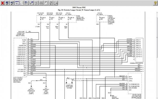 03 350z Headlight Wiring Diagram