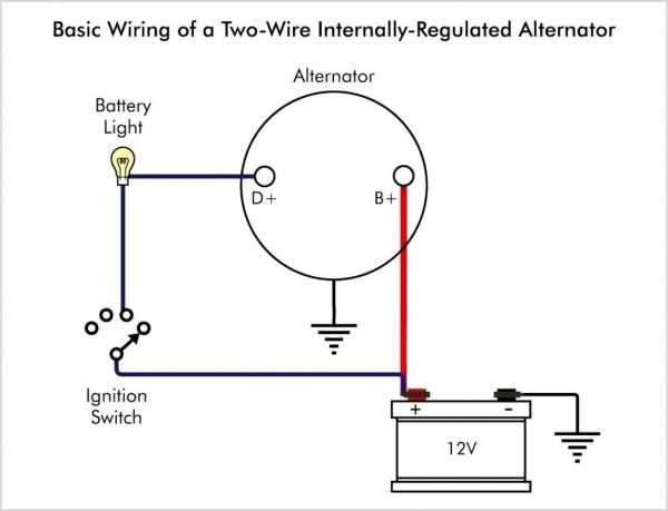 Single Wire Alternator Wiring Diagram Chrysler
